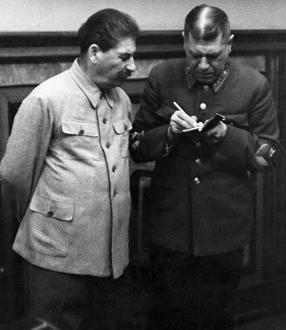 Шапошников Б.М. со Сталиным И.В.