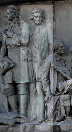 Победитель Фридриха II при Кунерсдорфе на памятнике «Тысячелетие России»