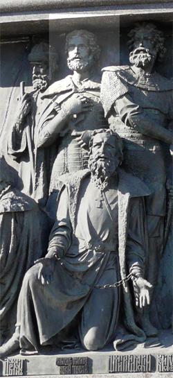 Александр Невский на памятнике «Тысячелетие России»